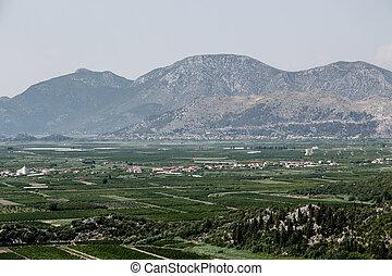 Beautiful, sunny landscape of southern Croatia, Dalmatia