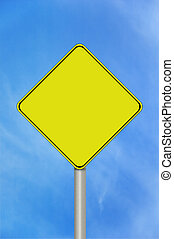 Blank caution sign - A blank caution sign with room for text...