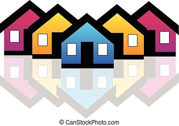 Real estate logo - Vector Houses real estate condos logo...