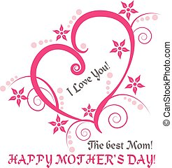 Mother's Day card background vector creative design
