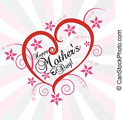 Mothers Day card background vector creative design
