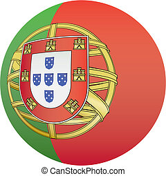 Portugal flag icon - Portugal flag icon, button with...