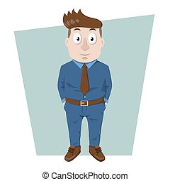 Staff using blue suit