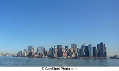 Newyork city view from the hudson river