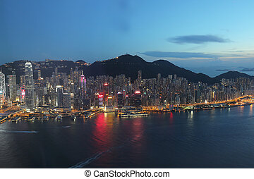 Hong Kong harbour view at ICC - the Hong Kong harbour view...