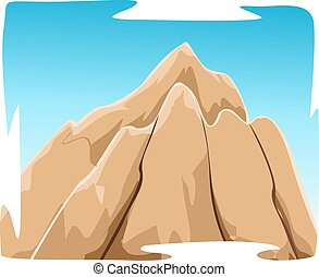 mountain - Illustration of mountain with sky background