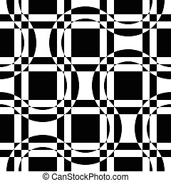 Seamless Wave and Square Pattern