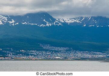 View of Ushuaia, Tierra del Fuego, Argentina