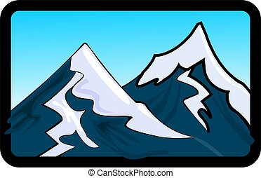 mountain	 - Illustration of the cliffs of mount Everest