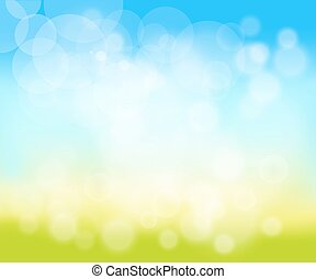 blurred natural background - Green, sunny natural...