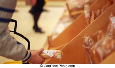 Customer Buying Loaf From Market Bread Stall. 1920x1080 -...