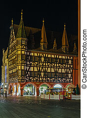 historic house in Fulda, Germany - half-timbered historic...