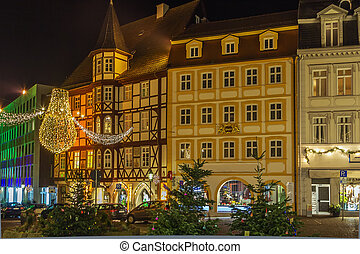 Fulda an Nidht, Germany - Fulda city center an night in...