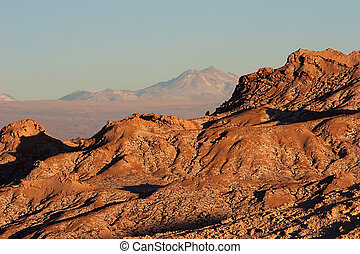 Rock ridge in Atacama Desert, Chile