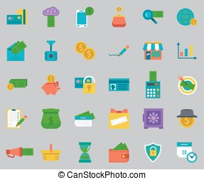 Vector banking Icons set.