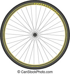 bicycle wheel abstract vector illustration isolated eps 10