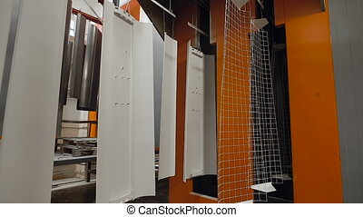 Automatic line of powder coating of metal products Steel...