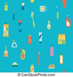 Endless flat cleaning background - Endless flat hygiene and...