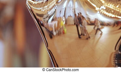 Reflection of child birth - Reflection in hot air balloon...