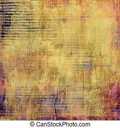 Vintage background in scrapbooking style, faded grunge texture with different color patterns: yellow (beige); brown; red (orange); purple (violet); gray