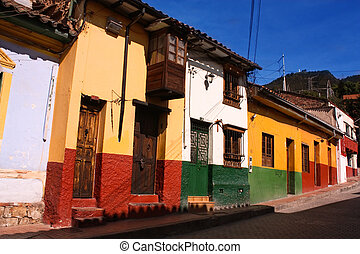 Colonial street Bogot, Colombia - Street in the spanish...