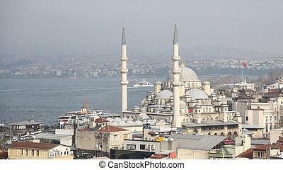 Eminonu New Mosque in Istanbul City, Turkey