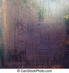 Vintage background in scrapbooking style, faded grunge texture with different color patterns: brown; blue; purple (violet); black; gray