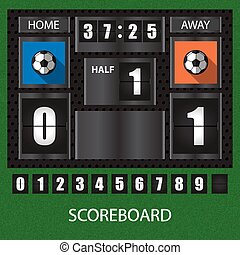 sports score board with timer