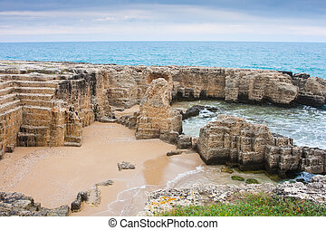 Ancient quarry at Torre Egnatia - Interesting landscape of...