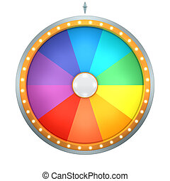 rainbow color wheel of fortune - The wheel of fortune with...