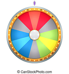 wheel of fortune - The wheel of fortune with lucky spin...