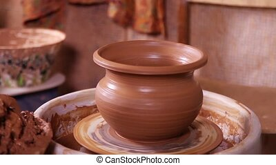 Just made Potter's pot close-up - Just made Potter's pot...
