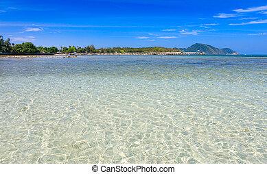 Chalong Bay, Phuket, Thailand - A crystal clear water at...