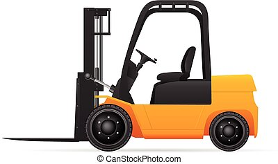 Forklift on a white background