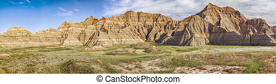 South Dakota Badlands Panorama - A large-scale panoramic...