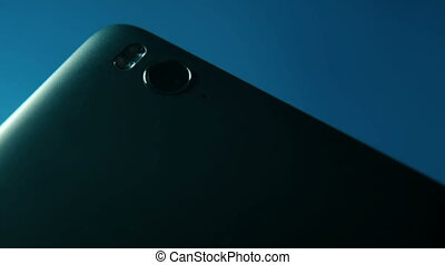 Closeup of Smartphone Camera Module on the back, placed on...