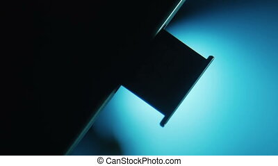 SIM cards in the slot in the cell phone - SIM card in the...