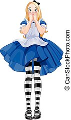 Alice Grow-up  - Illustration of Alice from Wonderland
