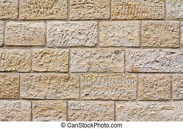 Yellow brick wall pattern