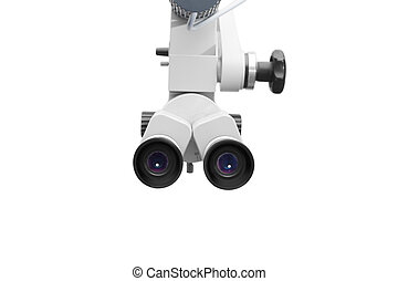 Ear microscope on white background