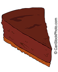 Cheesecake dark chocolate slice