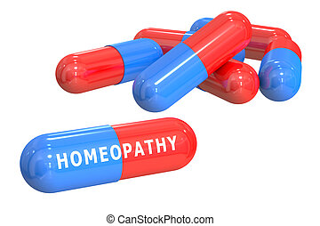Homeopathy pills 3D rendering isolated on white background