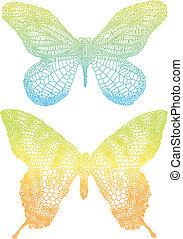 colorful butterflies - beautiful vector butterflies with...