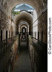 Historic Jail - An old historic jail hallway.