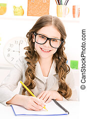 elementary school student - bright picture of learning...