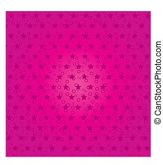 Pink abstract background with stars, part 4, Vector...