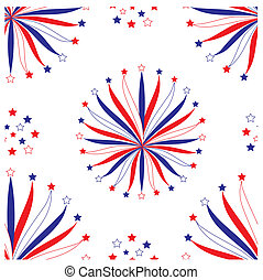 Seamless background with stylized fireworks, part 1, vector illustration