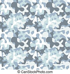 Military camouflage seamless pattern to disguise in snow -...