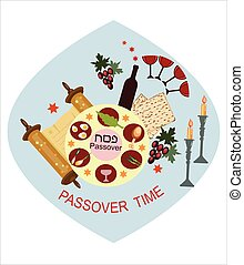 passover blue background