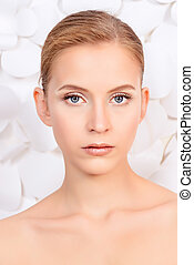 complexion - Portrait of a beautiful young woman with...